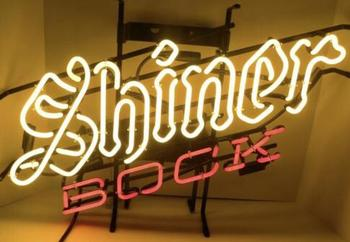 Shiner Bock Glass Neon Light Sign Beer Bar