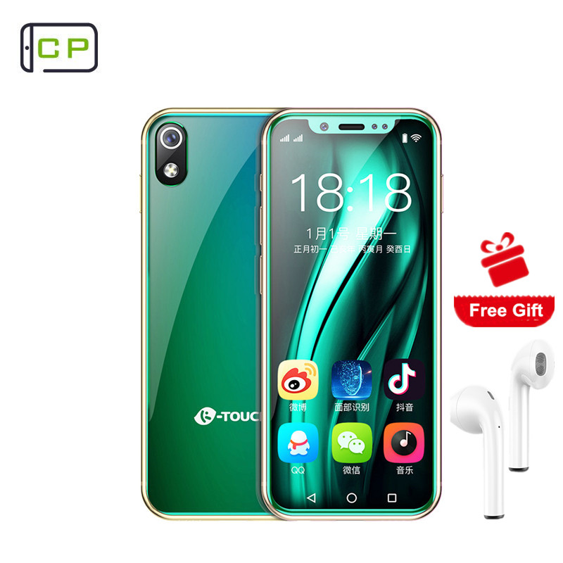 K-TOUCH 16gb 2GB LTE/GSM Quad Core 5mp New Mini Phone Frame Wifi Telefone-Face Android 8.1