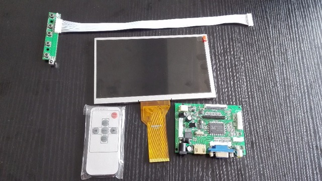 7 inch LCD Screen for Raspberry Pi 3 with driver board Remote Control  800*480 for Raspberry Pi 2 Banana Pi Orange Pi free ship