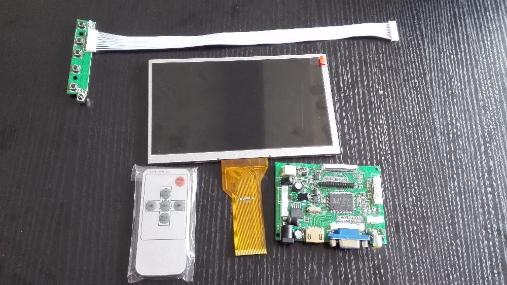 HDMI VGA 2AV 50PIN TTL LVDS Controller Board with 7 inch TFT LCD panel LCD Module Monitor Kit for Raspberry PI LCD AT070TN94