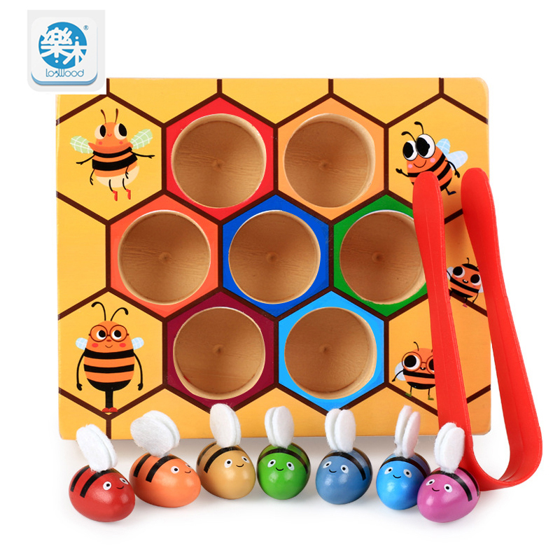 купить wooden baby toys Novelty & Gag Toys Beehive game learning Education toy Bee table game Children gifts по цене 1213.76 рублей