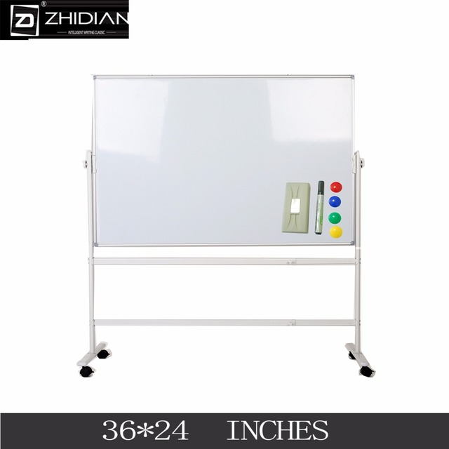 Us 330 0 Zhidian Office 36 24 Mobile Double Sided Magnetic White Dry Erase Boards Stand Easel 2 Marker Color Magnet 4 Eraser 1 In Whiteboard From