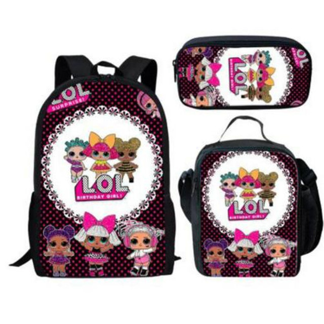 abf728444f 2019 New LOL Dolls Print School Bags for Girls Cartoon Students Orthopedic  Schoolbag Casual Children Backpacks