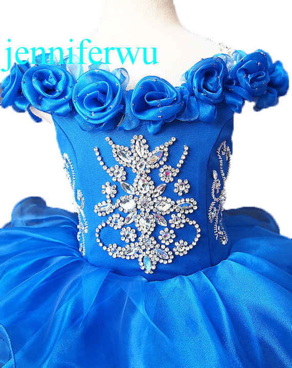 toddler newborn baby infant and little girl  pageant dress party dress 1T-6T G007-1