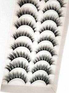 Image 3 - Yeni 5/10 pairs doğal yanlış eyelashes takma kirpik uzun makyaj 3d vizon kirpik uzatma kirpik vizon kirpik güzellik için 54