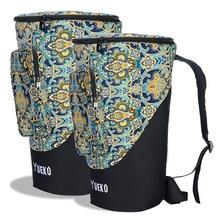 Djembe Bag Stabile Schultergurte Hochwertige und langlebige African Drum Bag 3-lagige Konstruktion 10/12 Zoll