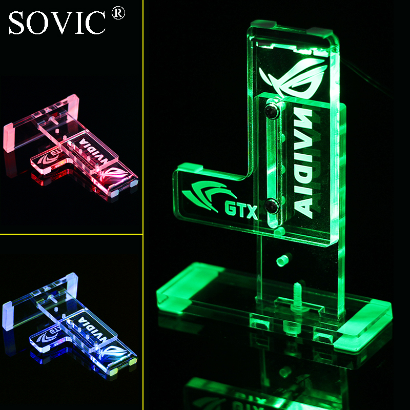 все цены на Graphics Cards Stand Mounting bracket Suitable for GTX 1080 1070 1050 1030 980 970ti Companion Support led graphics card holder онлайн
