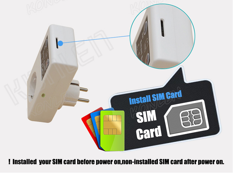 16A GSM socket remote control switch 15