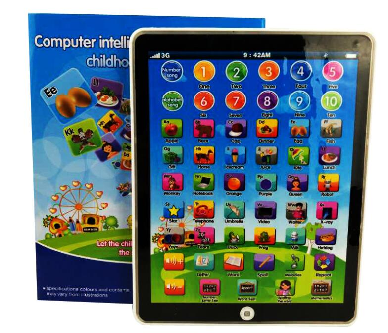 New Tablet Toy English Language Learning Machine Childrens Educational Toy Alphabet Baby Touch Tablet Learning Machines