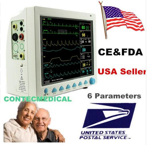 все цены на CONTEC CMS8000 ECG Blood Pressure SPO2 Pulse Rate Temperature Respiration ICU CCU MultiParameter Patient Monitor онлайн
