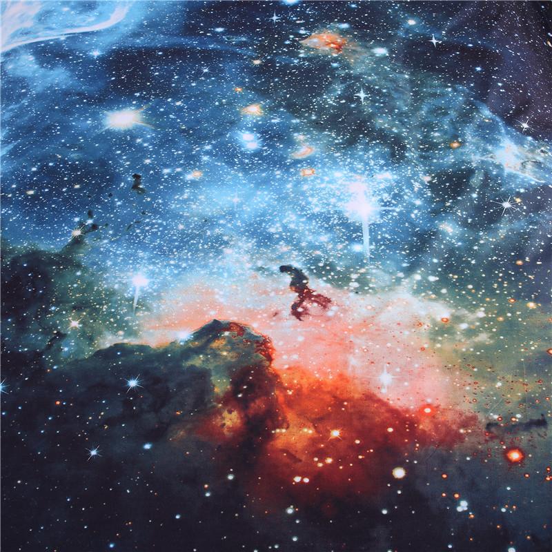 iDouillet 3D Nebala Outer Space Star Galaxy Bedding Set 2/3/4 pcs Duvet Cover Flat Sheet Pillowcase Queen Twin Size 17