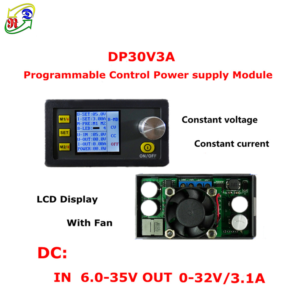 Rd Dps3012 Constant Voltage Current Step Down Programmable Power Supply Negative Output Circuit Diagram Dp30v3a And Module Buck Converter