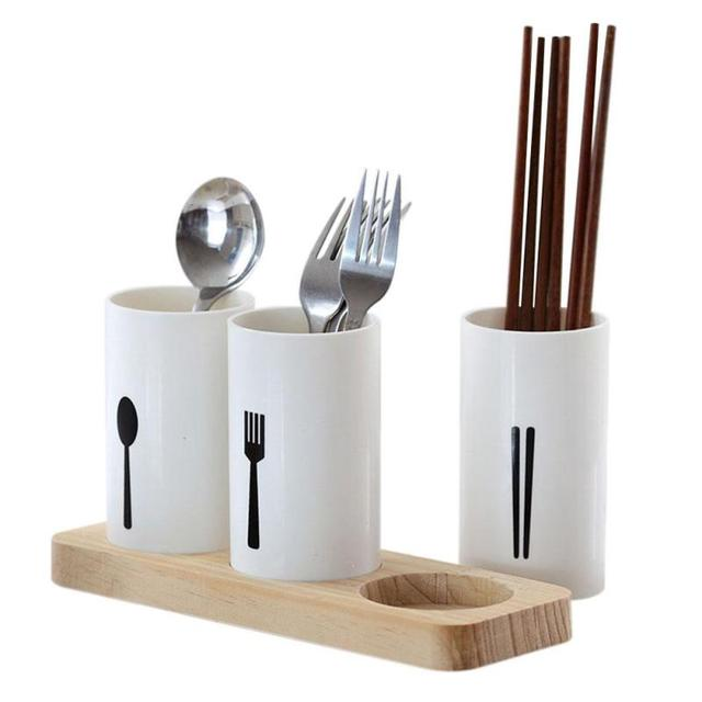 Plastic chopsticks tube tableware storage box kitchen utensils plastic chopsticks tube tableware storage box kitchen utensils organizer holder 3 grids spoon bucket knife fork workwithnaturefo