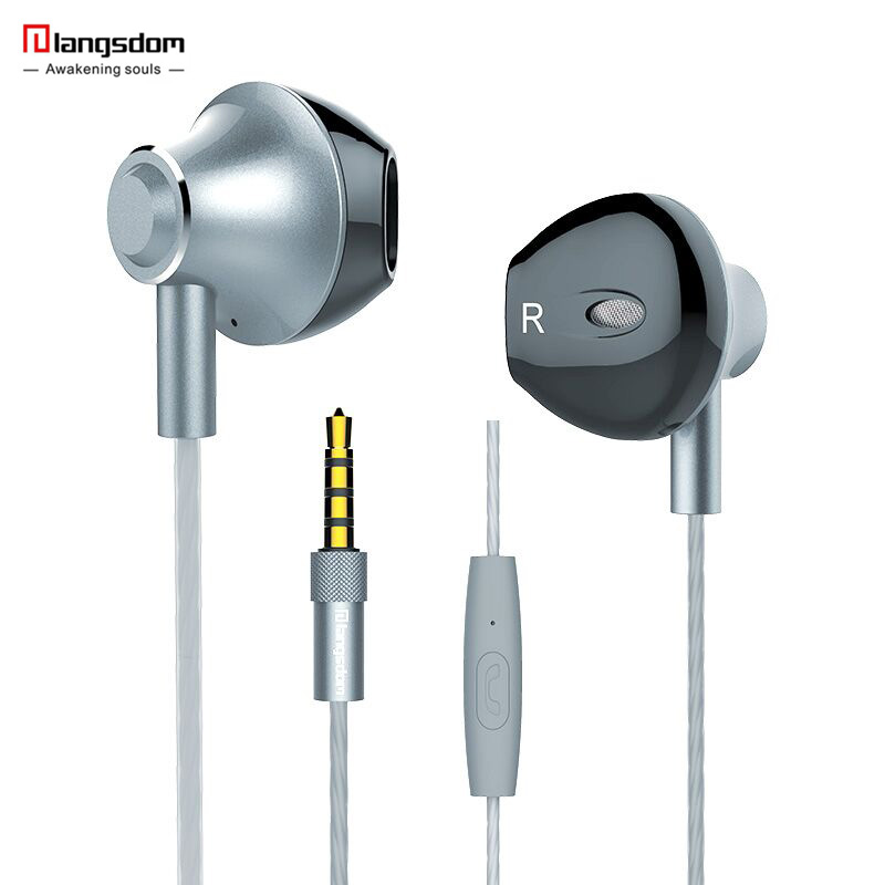 Langsdom M420 Metal in-ear Earphone with Mic Sports Headset Noise Canceling Stereo Bass Headphone for Computer iPhone xiaomi kz zs5 bluetooth headphone wireless sport noise canceling earphone amplifer with mic heavy bass high quality for boy for samsung