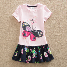 2016 Neat wholesale BABY Girl Clothes short Sleeve Girls Dress Kids pretty Dresses A-line children clothing fashion style SH5460