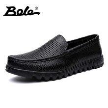 Боле большой Размеры 37-48 Мужские туфли из натуральной кожи Новая повседневная водонепроницаемая обувь Модные слипоны обувь для вождения мокасины выдалбливают мужчины Туфли без каблуков