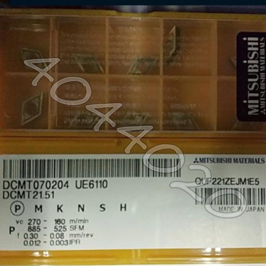 DCMT070204 UE6110 DCMT21 51 UE6110 10pcs Box carbide inserts