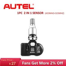 AUTEL 2 In 1 TPMS Sensor 433 315 Mhz MX Sensor tyre pressure sensor Tire Monitoring TPMS car Programmable Sensor 100% Original e3x zd11 sensor