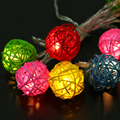 Warm White 10 LED  Moroccan Ball String Garland Christmas Lights Powered Dry Battery Fairy Wedding Party Home Decoration Lamp