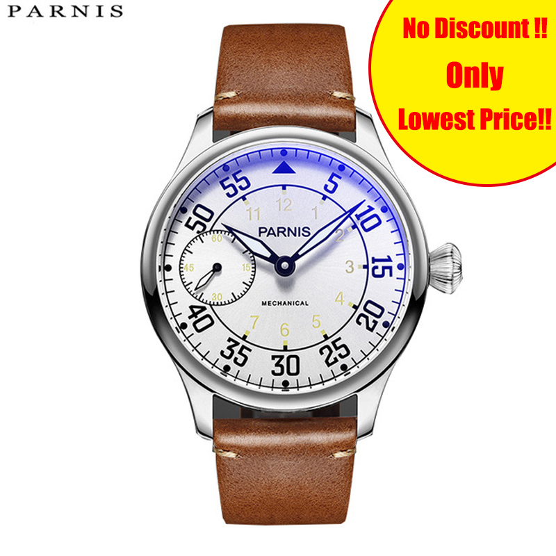 Newly Parnis 44mm Hand Winding Mechanical Mens Watches Waterproof Leather Top Brand Luxury 2019 Hand Wind Mens Watch Clock ManNewly Parnis 44mm Hand Winding Mechanical Mens Watches Waterproof Leather Top Brand Luxury 2019 Hand Wind Mens Watch Clock Man