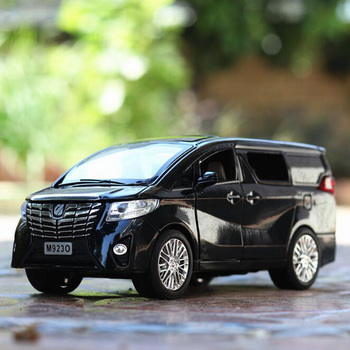 20.3CM 1:24 Scale Alphard Auto Nanny Car Van Pullback Model Diecast Metal Alloy Car Collections Gifts Toys For Children Kids image
