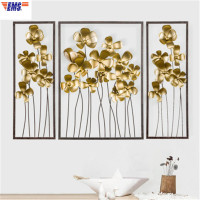 Metal Simulation Stereoscopic Lilac Iron Art Living Room Wall Art Decorations Nordic Bedroom Wall Hangings X2137