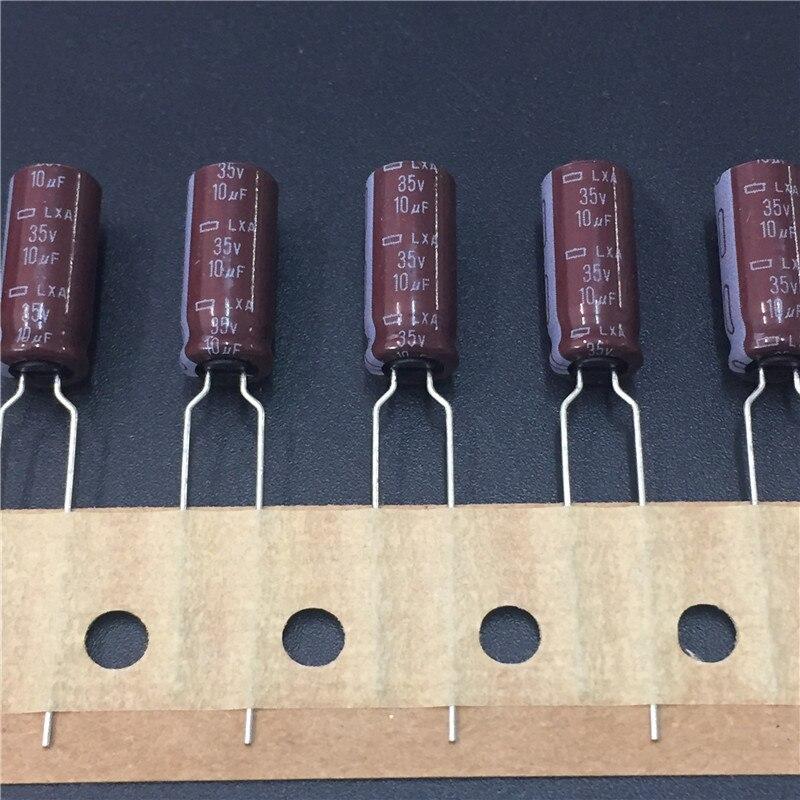 50pcs 10uF 35V NCC Nippon LXA 6.3X15mm Electrolytic Capacitor