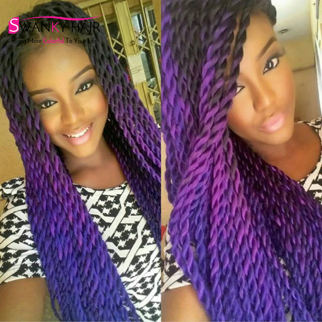 New Freetress Crochet Braid Hair Senegalese Twist Box Braids Ombre Kanekalon Braiding Colors Synthetic