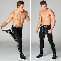 2017 sport joggers pro compression track pants fitness men running tights gym clothing football&basketball training leggings
