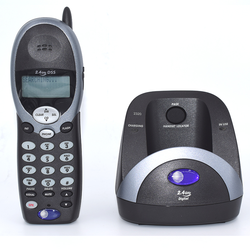 лучшая цена English Spanish French Language 2.4Ghz Cordless Telephone With Caller ID Call Waiting Adjust Ring Volume For Home Landline Phone