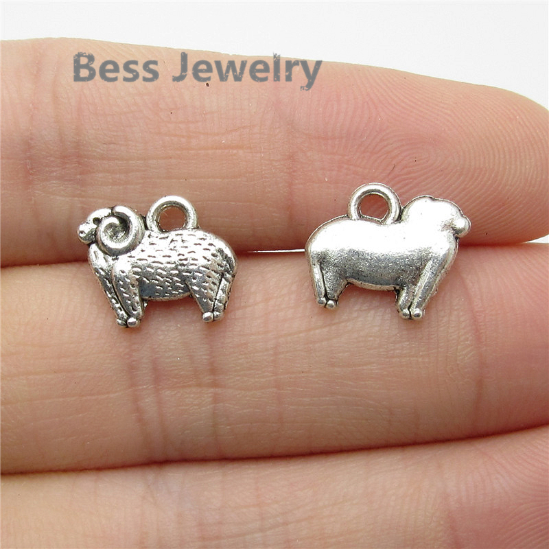 Wholesale cat animals antique silver charms pendants jewelry DIY finding 37*13mm