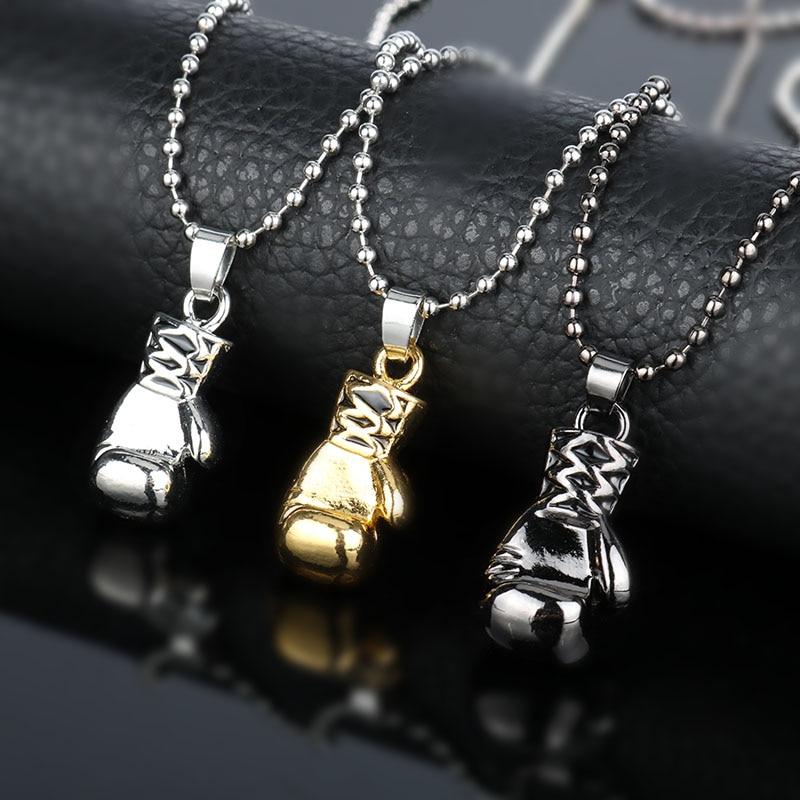 Модные украшения для шеи, кружевное ожерелье с кулоном в виде боксерской перчатки, подвеска, аксессуары для спорта и фитнеса, цепочка с буси...