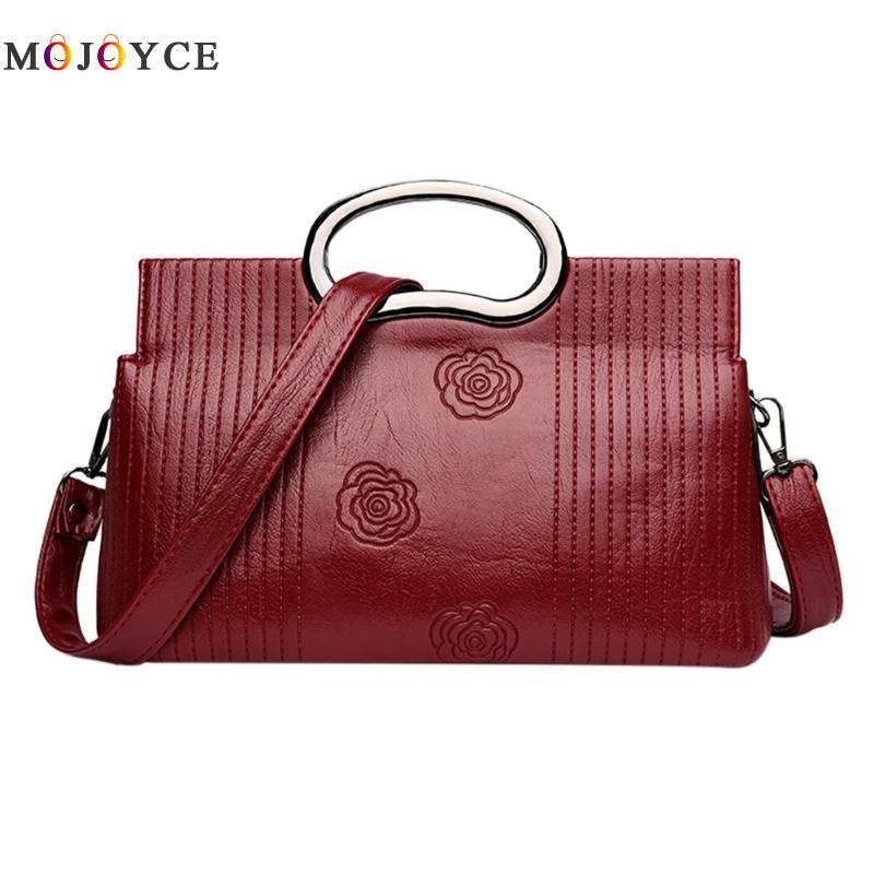 Luxury Brand PU Leather Women Messenger Bag Solid Color Female Shoulder Bag Office Lady Clutch Handbag Bolsa Feminina 1