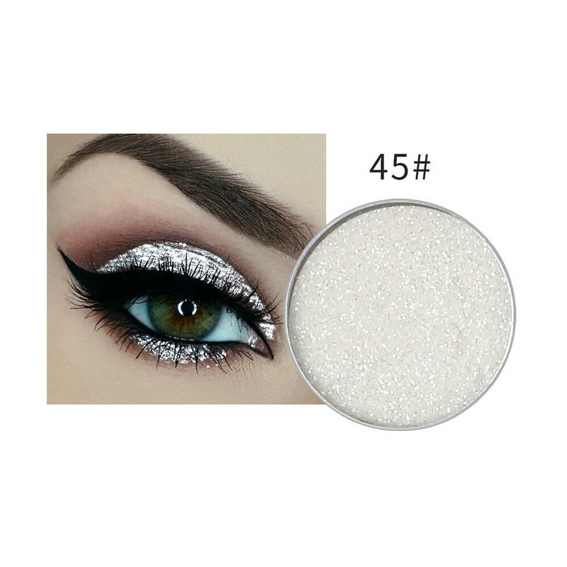NICEFACE Hottest Glitter & Shimmer Makeup Women Maquiagem Body Face Glitter Powder Eye Shadow Silver Color Pigment Cosmetics