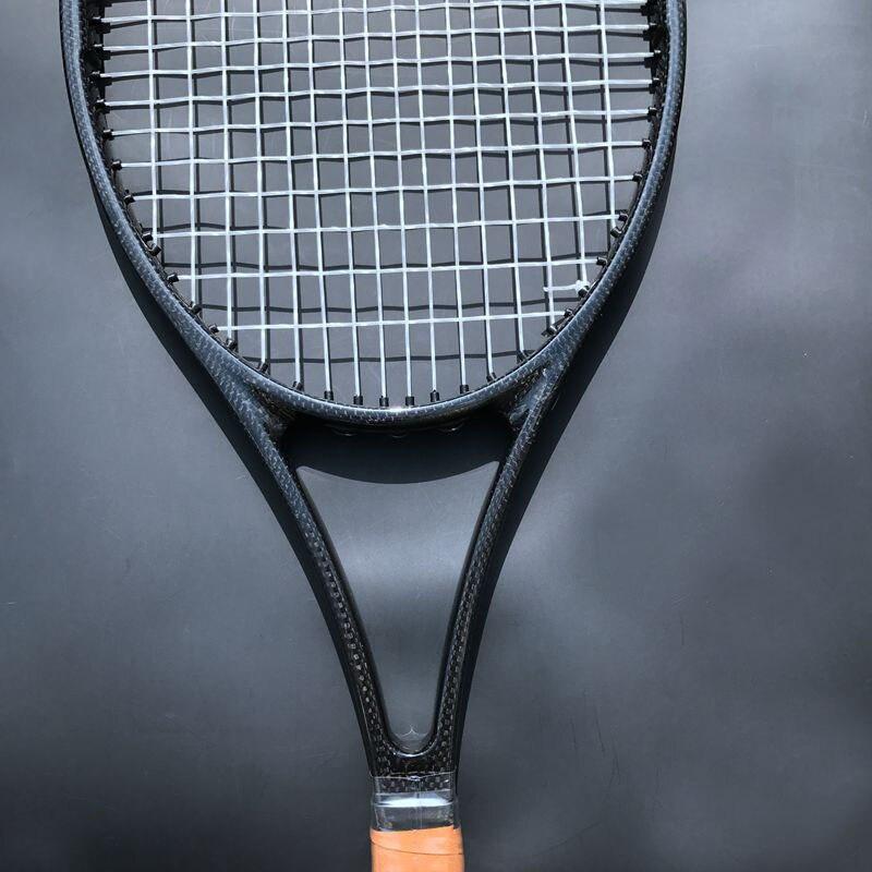 1 pc Taiwan Personnalisé PS97 100% carbone tissé noir Tennis raquette 97sq. dans 315g raquette de tennis poignée en mousse avec sac L2, L3, L4