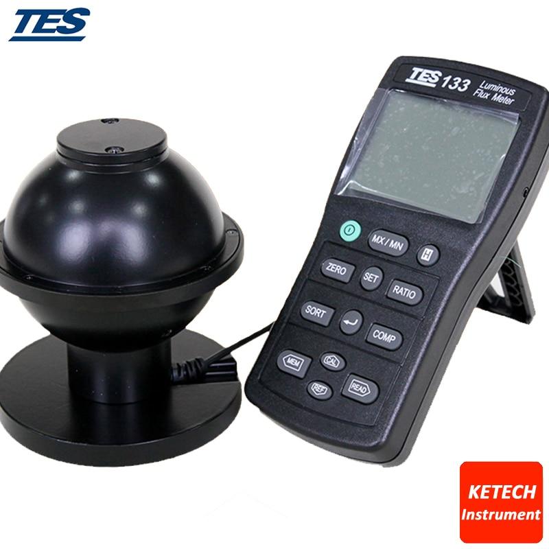 Medidor de Medidor de Luz Digital Fluxo Luminoso Luminosa 0.05-7000 Lumens Tes133