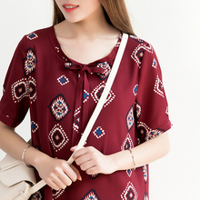 UHLRICHBWER Summer Dress for Women Half sleeve Loose Large Size Dresses Lady Fashion Casual Chiffon Dress Vestido 17014-1