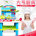 New Arrival Children play house kitchen playsets combination cook cooking large toy girl boy Kitchen Accessories Toys learning