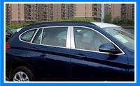 20 шт. двери автомобиля Полный оконной рамы подоконник литья Накладка для 16 17 18 BMW X1 F48 2016 2017 2018 BY EMS