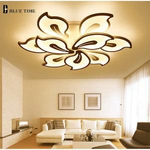 Image 2 - White&Black Finished Modern Led Ceiling Light For Living room Bedroom Dining room Lustres Acrylic Led Ceiling Lamp Light Fixture