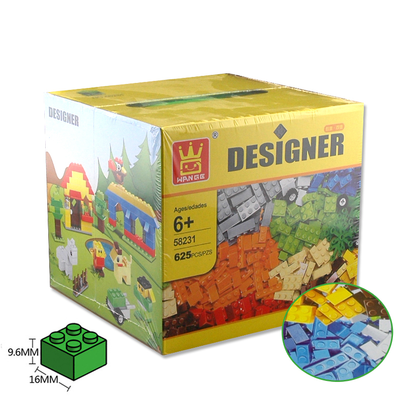 Designer DIY Gift Toy Building Blocks 625pcs Constructor Set Educational Toys Wange Bricks are compatible with Bricks Parts cheerlink zm 81 3mm neodymium iron diy educational toys set silver 81 pcs