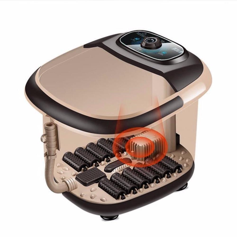 цена на Automatic Foot Massager Electric Roller Massage Device Smart Footbath Machine Compact Foot Heating Massager Best Gift