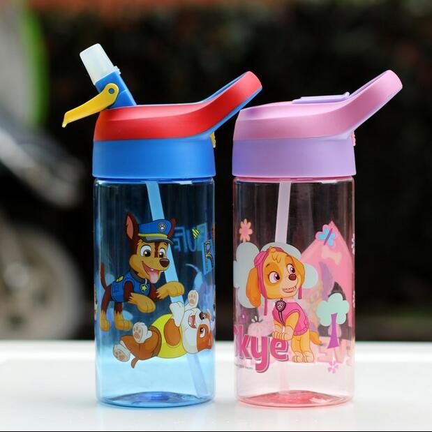 US $11 99 25% OFF Genuine Paw Patrol Autospout 500ML kids Water tritan  Bottle sucked cup skye everest ryder chase marshall Free boys kids toy  gift-in