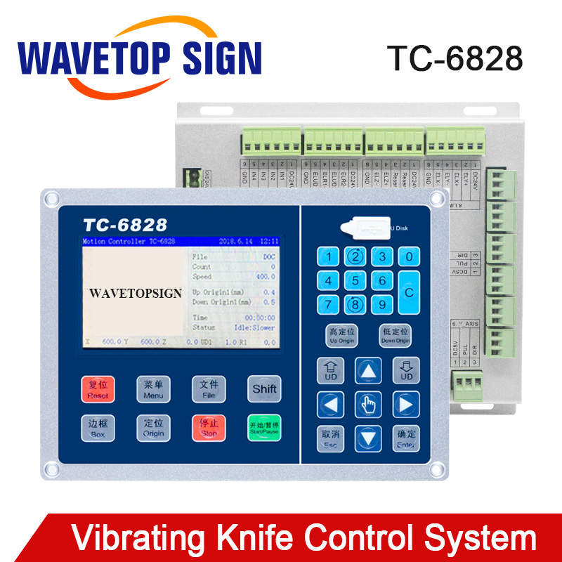WaveTopSign Vibrating Knife Control System TC-6828 4.3inch Support One Head Working usb File Input WEB File InputWaveTopSign Vibrating Knife Control System TC-6828 4.3inch Support One Head Working usb File Input WEB File Input