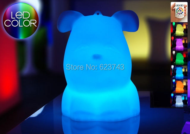 Free Ship Waterproof Multicolor Touch Senor Big LED Bulldog Night Light Rechargeable LED Dog Table children Kids Light Gift new kids pod swing chair nook hanging seat hammock nest for indoor and outdoor use great for children kids 7 types
