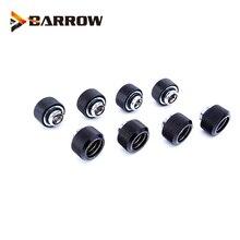 8 개/몫 OD12/14/16mm 경질 튜브 피팅 수냉 금속 커넥터 G1/4 od12mm 14mm OD16mm 핸드 압축 황동 피팅