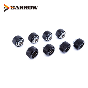 Image 1 - 8 Stks/partij OD12/14/16 Mm Harde Buis Montage Water Koeling Metalen Connector G1/4 OD12mm 14 Mm OD16mm Hand Compressie Messing Fitting
