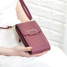 Новинка, брендовая длинная винтажная женская сумка-мессенджер на ремне, сумка с отделением для карт, женская сумка с карманом для мобильного телефона, дамская сумочка для телефона