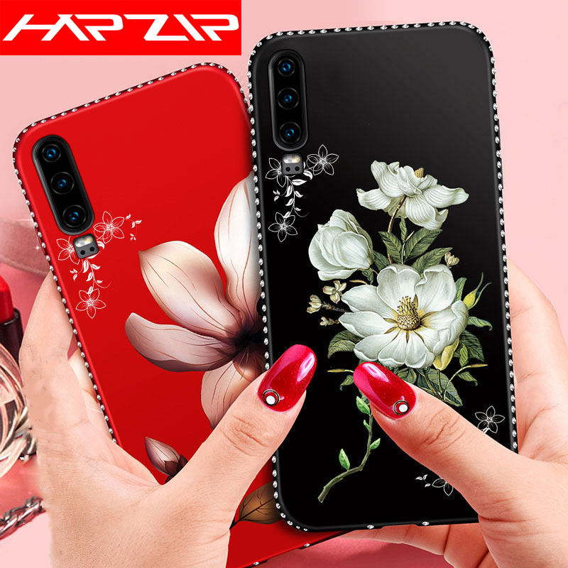 Bling Diamond Soft Cover For <font><b>Huawei</b></font> Honor 8A 8C 8X 7C 7A <font><b>Pro</b></font> 9 10 <font><b>20</b></font> P20 P30 Lite Y9 Y7 Y6 Prime 2019 Y5 2018 JAT-L29 LX1A <font><b>Case</b></font> image