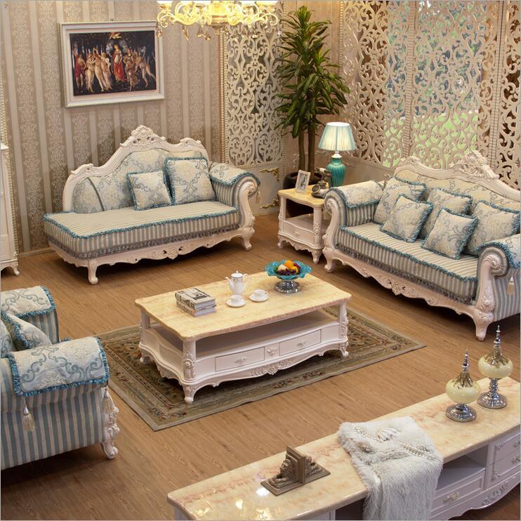 Living Room Furniture Modern Fabric Sofa European Sectional Sofa Set 1046